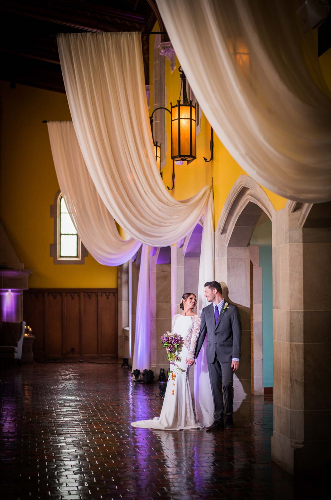 Bride and Groom in Great Hall