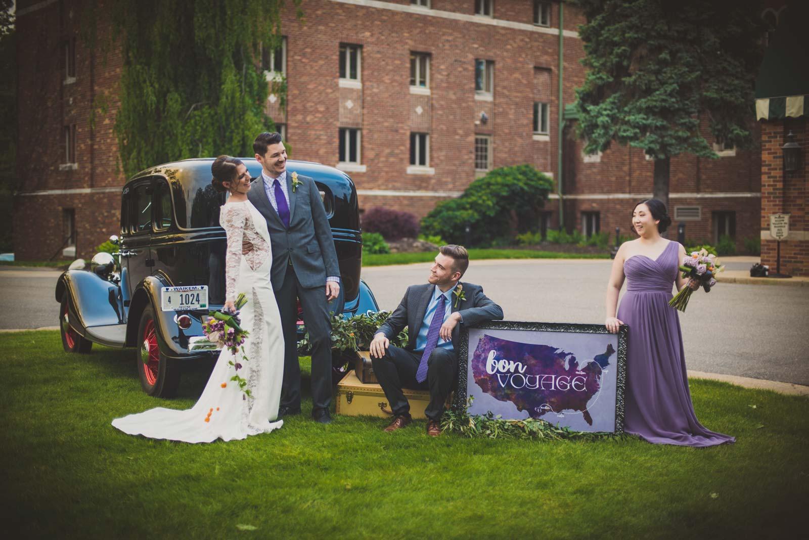 Bride and Groom Departing on Honeymoon