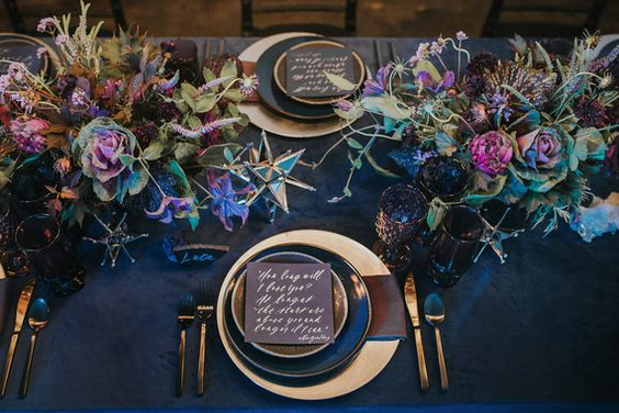 Infinity & Beyond: A Celestial Themed Wedding Tablescape