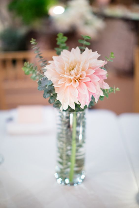 Tips to help bring your rehearsal dinner plans together: A Lovely Dahlia Centerpiece