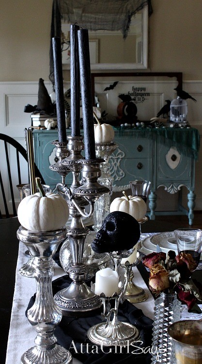 Holiday Magic: Party & Décor Planning-Halloween Tablescape with White & Black Decor