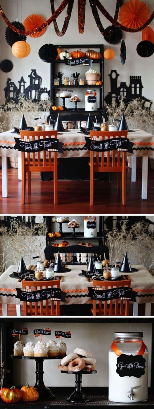 Holiday Magic: Party & Décor Planning-Halloween Tablescape with Orange & Black Decor