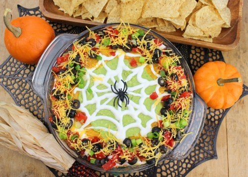 Holiday Magic: Party & Décor Planning-Spiderweb Taco Dip