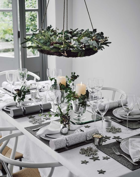 Holiday Magic: Party & Décor Planning-Christmas Tablescape Using White & Silver Decor