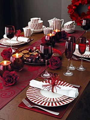 Holiday Magic: Party & Décor Planning-Christmas Tablescape using Red & White Decor