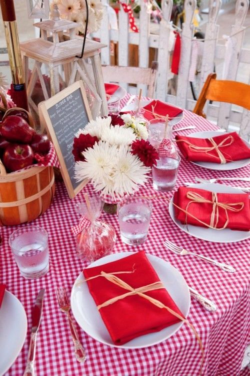 Tips to help bring your rehearsal dinner plans together: Decor Ideas For A Backyard BBQ
