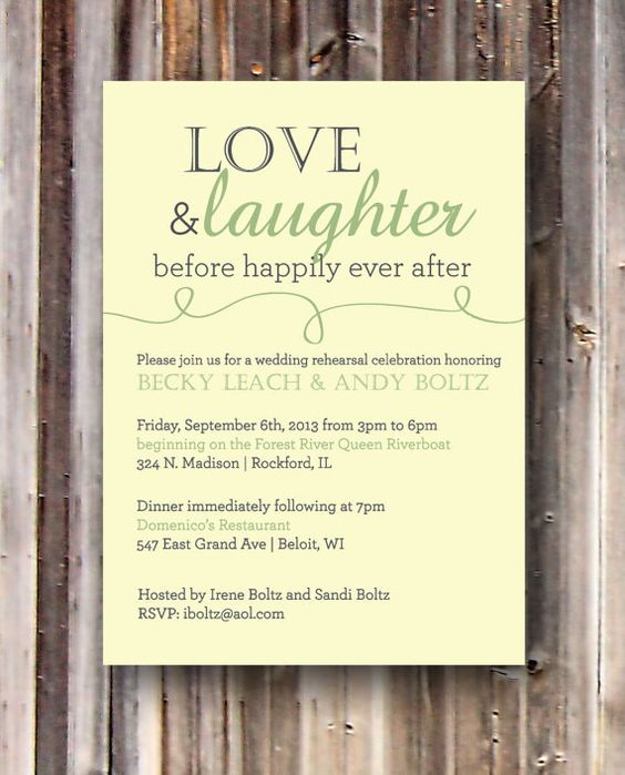Tips to help bring your rehearsal dinner plans together: Simple Rehearsal Dinner Invitations