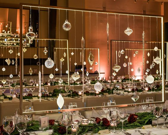 Impressive Corporate Holiday Decor by HMR Designs