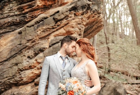 A Modern Day Bride & Groom Take On Ohio's Rocky Terrain