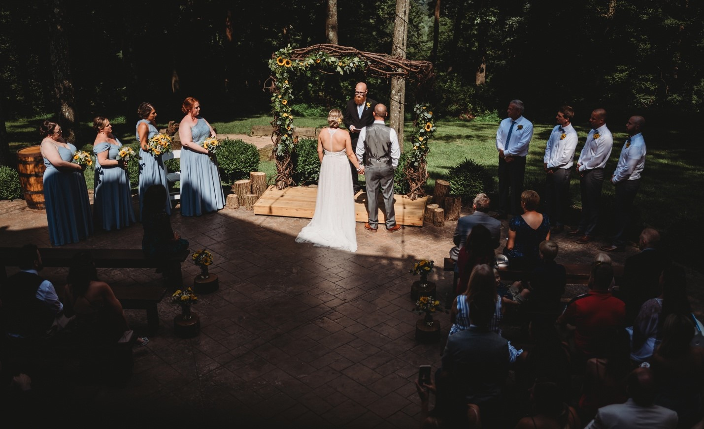 Allison + Nick's Charming Rustic Ceremony at The Grand Barn