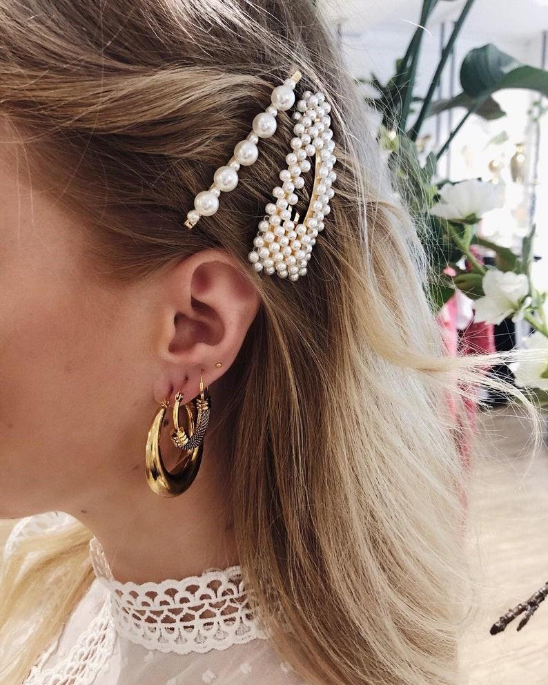 Decorative pearl hair accessories by PearlJewelleryShop
