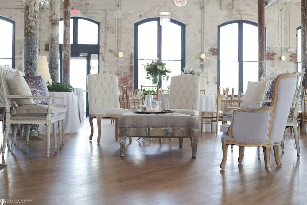 The Cedar Room at the Cigar Factory in Charleston offers a historic and quaint setting
