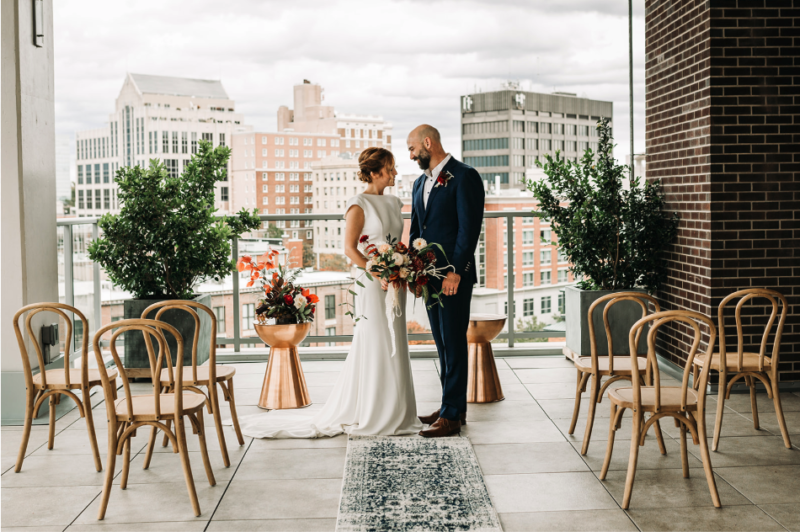 A Sweet & Simple Elopement Ceremony Design | Photo by The Remnant Collective